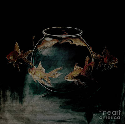 Yellow Fairy Painting - out from Jar  by Gull G
