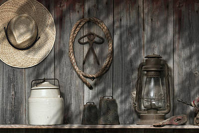 Old Fashion Photograph - Out In The Barn IIi by Tom Mc Nemar
