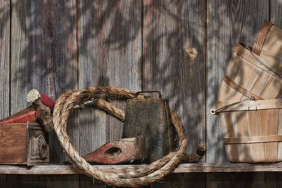 Ropes Photograph - Out In The Barn Iv by Tom Mc Nemar
