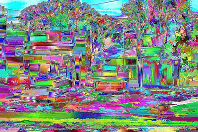 Digital Art - Out My Back Door by Aliceann Carlton