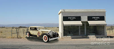 Photograph - Out Of Gas At Prada by Jack Pumphrey