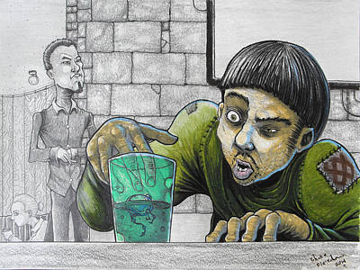 Science Fiction Drawing - Out Of Place by Chase Fleischman