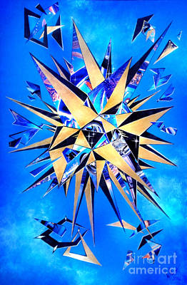 Unreal Mixed Media - Out Of Reality. Shattered Pieces 01 by Sofia Metal Queen