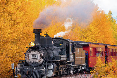 Photograph - Out Of The Aspen Train by Steven Bateson