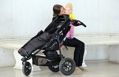 Photograph - Out Of The Baby Stroller -- A Mother And Daughter by Cora Wandel