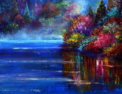 Kinkade Painting - Out Of The Blue by Ann Marie Bone