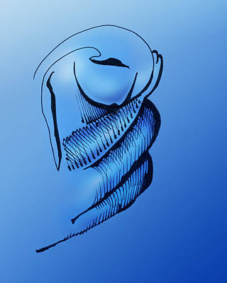 Art Print featuring the drawing Out Of The Blue Aventurine by Keith A Link