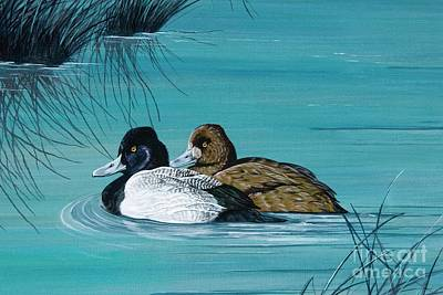 Painting - Out Of The Blue Dad And Mom by Jennifer Lake