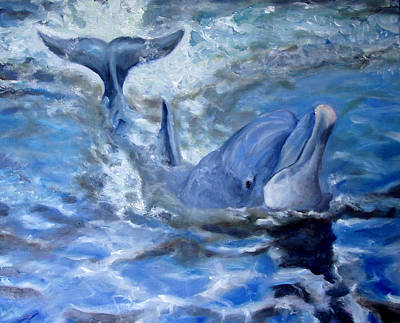 Bottle-nose Painting - Out Of The Blue by Graham Keith