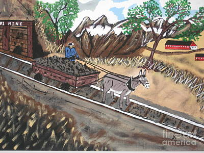 Barn Painting - Out Of The Dark And Into The Blue Coal Mine by Jeffrey Koss
