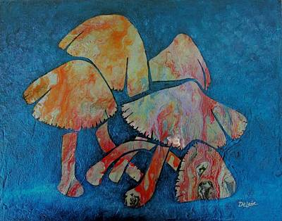 Toadstools Painting - Out Of The Darkness by Susan DeLain