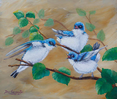 Out Of The Nest Art Print by Dee Carpenter