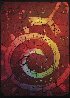 Tapestries - Textiles Painting - Out Of The Reds No.6 By Enialis by Enialis Best Silk
