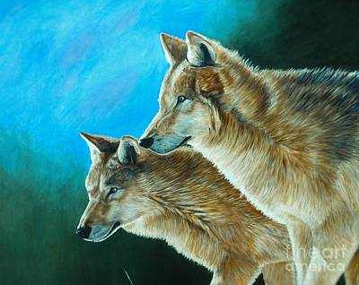 Coyote Painting - Out Of The Shadows by Kevin Ballew