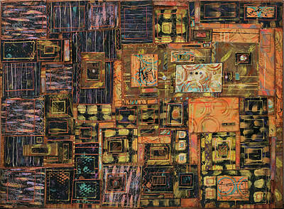 Mixed Media - Out Of The Shadows by Marjorie Sarnat