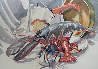 Tarantula Painting - Out Of The Shopping Bag by Margaret Montgomery