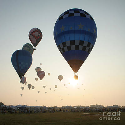 Hot Air Balloon Race Photograph - Out Of The Sun No2 by Paul Anderson
