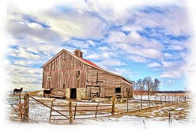 Shed Mixed Media - Out Of The Winds Painted by Bonfire Photography
