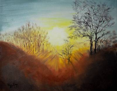 Painting - Out Of The Winter Morning Mists - 1 by Peggy King