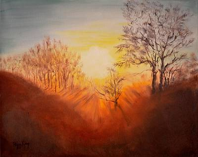 Painting - Out Of The Winter Morning Mists - 2 by Peggy King