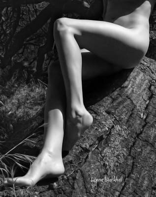 Female Body Photograph - Out On A Limb by Donna Blackhall
