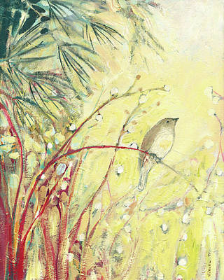 Sparrow Painting - Out On A Limb by Jennifer Lommers