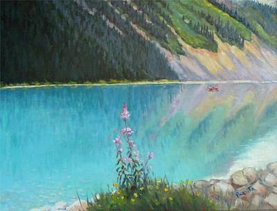Painting - Out On Lake Louise by Bonita Waitl
