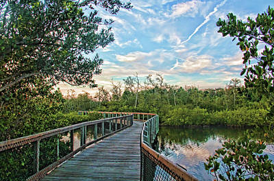 Photograph - Out On The Boardwalk by HH Photography of Florida
