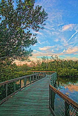 Photograph - Out On The Boardwalk - Vertical by HH Photography of Florida
