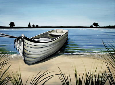 Painting - Out On The Water by Elizabeth Robinette Tyndall
