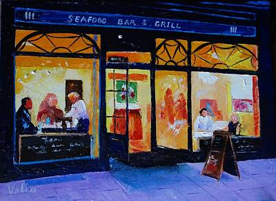 Painting - Out To Dinner by Valerie Curtiss