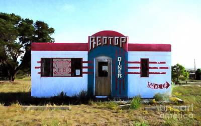 Photograph - Out To Lunch On Route 66 by Mel Steinhauer