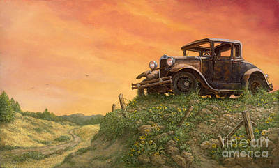 Painting - Out To Pasture by Janet  Kruskamp