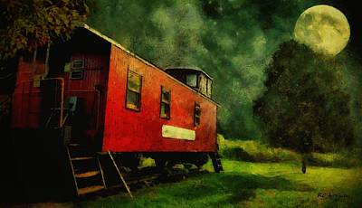 Painting - Out To Pasture by RC deWinter