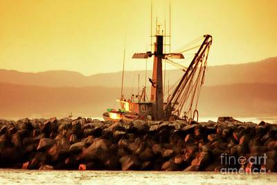 Photograph - Out To Sea At Moss Landing, California by Polly Peacock