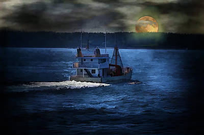 Art Print featuring the photograph Out To Sea by Gary Smith