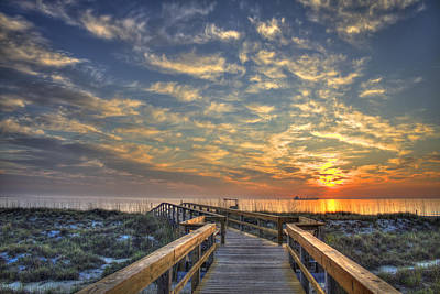 Photograph - Out To Sea Too Tybee Island Georgia by Reid Callaway