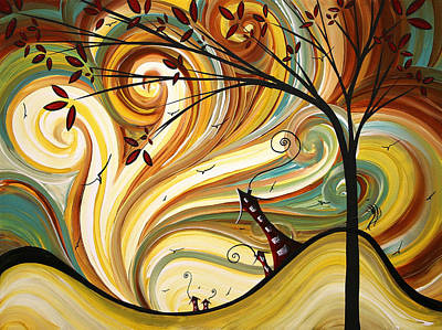 Urban Painting - Out West Original Madart Painting by Megan Duncanson