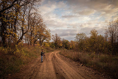 Photograph - Out With Dad by Scott Bean
