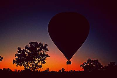 Outback Balloon Launch Art Print by Gary Wonning