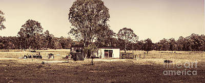 Outback Country Australia Panorama Landscape  Art Print