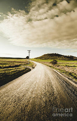 Country Road Wall Art - Photograph - Outback Gravel Track by Jorgo Photography - Wall Art Gallery