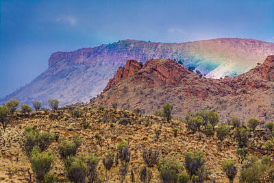 Desert Photograph - Outback Rainbow by Racheal  Christian