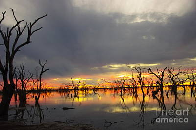Outback Sunset Art Print by Blair Stuart