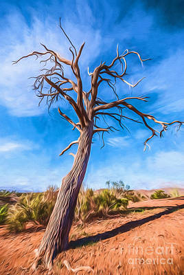 Photograph - Outback Tree       Go by Ray Warren