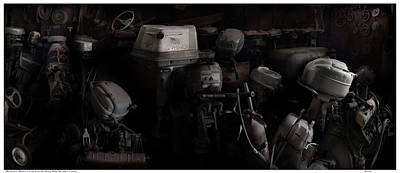 Photograph - Outboard Motor Collection by Gary Warnimont