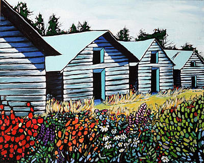 Wall Art - Painting - Summer On The Farm by Alison Newth