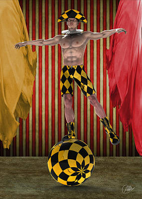 Jester Digital Art - Outdated Circus by Quim Abella