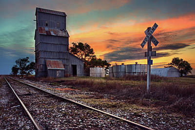 Grain Elevator Wall Art - Photograph - Outdated by Thomas Zimmerman