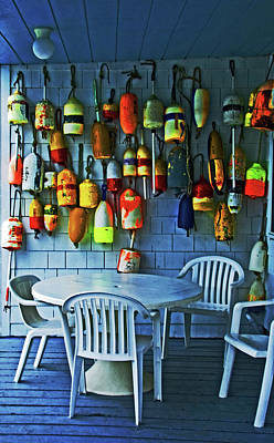 Photograph - Outdoor Cafe, Block Island, Ri by Bill Jonscher